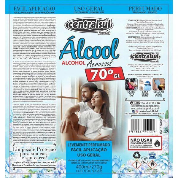 alcohol desinfectante en aerosol